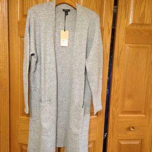 HALOGEN - Open Front Cardigan - Grey Heather - NWT